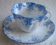 dainty blue shelley teacup