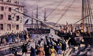 The Destruction of Tea at Boston Harbor
