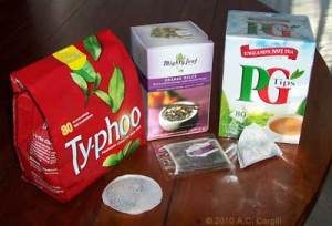 Typhoo, Mighty Leaf, and PG Tips compared