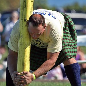 Preparing for the Caber Toss at the Virginia Scottish Games