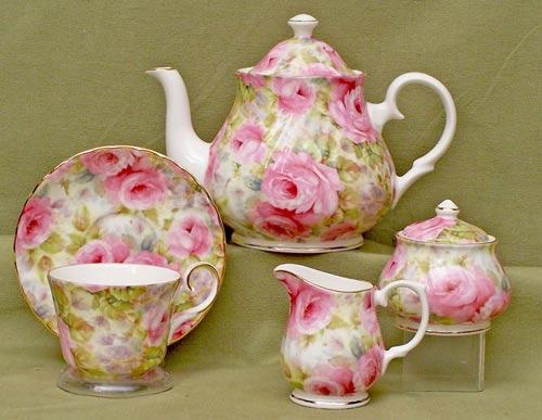 Lady Diana Chintz Fine Bone China Tea Set