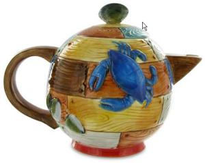 Nantucket Teapot, crab side