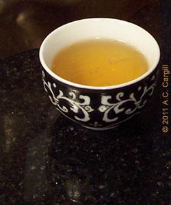 Gunpowder tea pre-leafreading