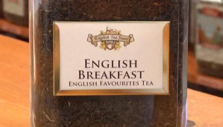 Black tea in a fine breakfast blend