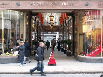 Old Bond Street Mall in London, UK