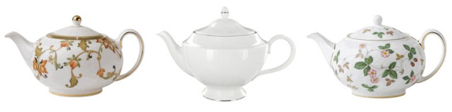 Three Little Wedgwood Teapots