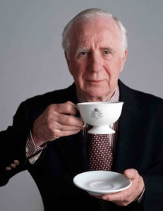 "John Harney enjoying a ""cuppa"""