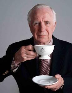 "John Harney enjoying a ""cuppa"""