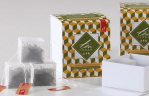 Cube-shaped tea bag
