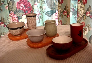 Three aroma cup sets from my own collection.