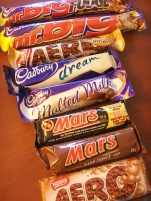 Some British-made Cadbury candy bars