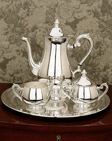 Gadroon Silver Coffee Set by Reed & Barton