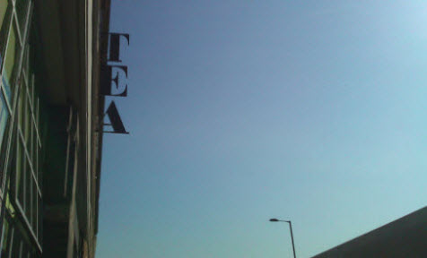 Tea Building Tea Sign