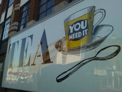 Shoreditch High Street Tea Bill Board