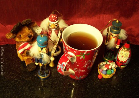 Have a cuppa while you sort out which ornaments to use on your tree