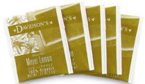 Davidson's Teabags, wrapped to make them easy to take with you