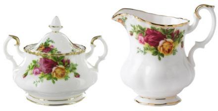 Royal Albert Old Country Roses Sugar Bowl and Creamer