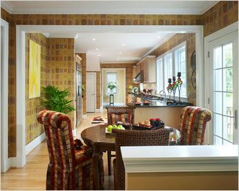 A kitchen design that evokes the colors of teas!