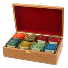 Tea Chest Filled with Taylors of Harrogate Tea Bags - British Favorites