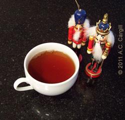 Nutcracker soldiers guard the cuppa!