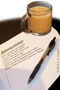 Have a cuppa tea handy while you write your list