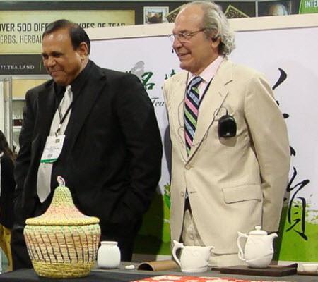 James Norwood Pratt, right, with Devan Shah.