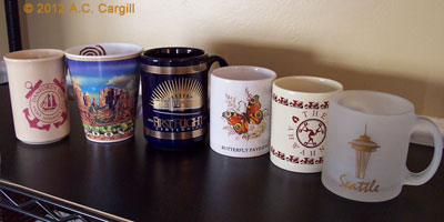 Places, event, and promo mugs abound for your tea drinking pleasure!