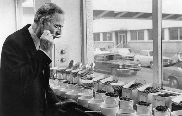 Noble Fleming at work at Lipton Tea