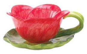 Tea cup flower pot planter water lily pad saucer