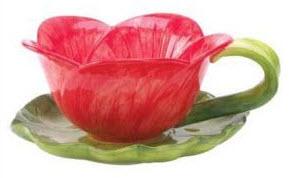 Tea cup flower pot planter water lily pad saucer