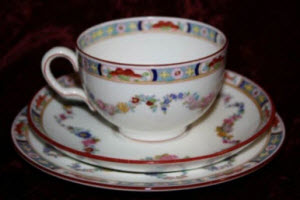 "Tea Trio Set: ""Toronto"" by Minton"