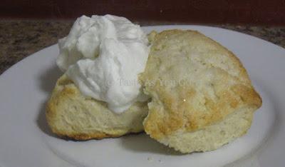 Pomegranate Vanilla Scones with Pomegranate Whipped Cream