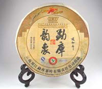 Pu-erh cakes are so special that they are often displayed in shop windows and on vendor sites on stands