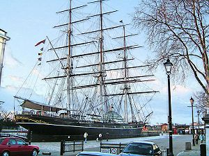 Cutty Sark in dock, Greenwich - January 2005