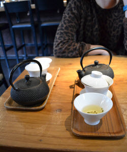 Our oolong teas were served in elegant gaiwans