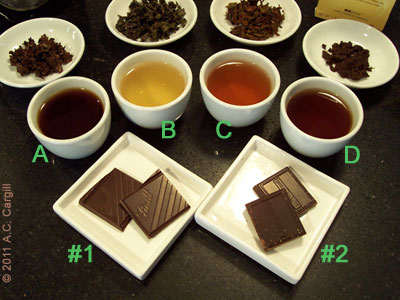 See the article about my great tea and sea salt chocolate experiment for an explanation of the above.