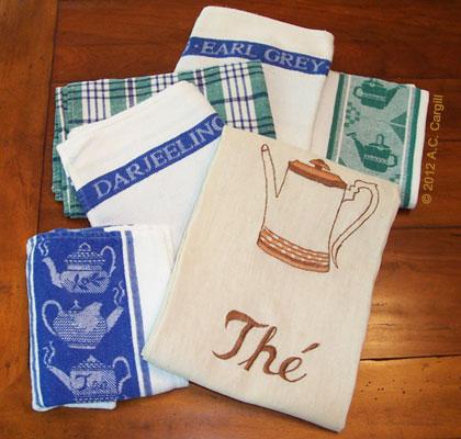 A few of my hard-working tea towels!