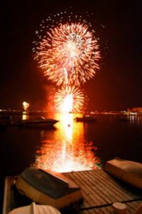 Red Bank Fourth of July fireworks display over the Navesink River