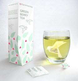 Origami tea bags designed by Natalia Ponomareva