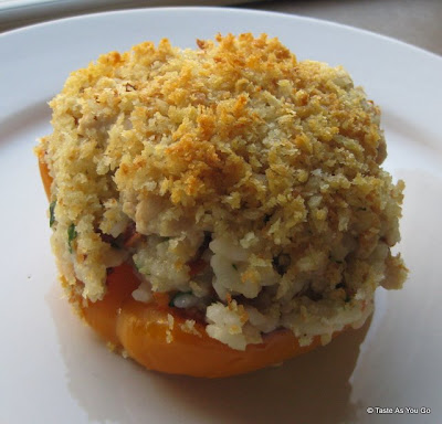 Stuffed Bell Peppers with Ground Turkey and Sun-Dried Tomatoes