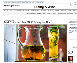 Iced Tea and Coffee Article from The New York Times