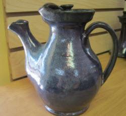 Teapot in grayish-blue glaze