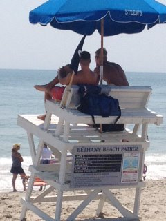 Lifeguards at Bethany Beach Delaware (photo posted on Facebook and taken by Shelley Jacobs Rodner)