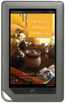 Keep the screen size in mind for your tea e-book. (Simulation)