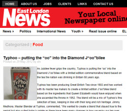 "Typhoo – putting the ""oo"" into the Diamond J""oo""bilee"