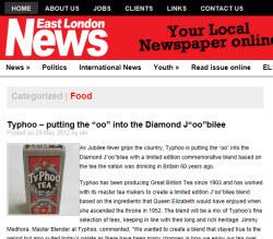 "Typhoo – putting the ""oo"" into the Diamond J""oo""bilee"