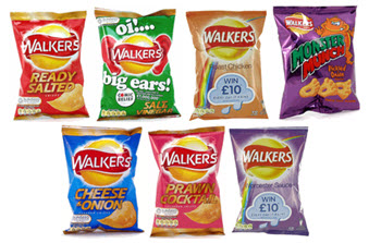 Walker's Crisps — letting the snacking commence. Crunch!