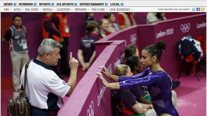 2012 Olympics women's artistic gymnastics (Photo source: screen capture from site)