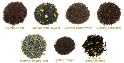 Lots of great aromas in our China Tea Sampler (Photo source: The English Tea Store)
