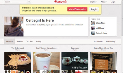 Our esteemed editor on Pinterest (Photo source: screen capture from site)
